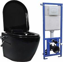 Youthup - Inodoro WC de pared sin bordes cisterna