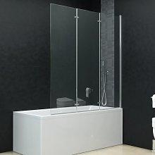 Youthup - Mampara de ducha plegable 3 paneles ESG