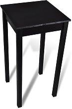 Youthup - Mesa alta de bar negra de MDF 55x55x107