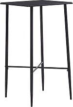 Youthup - Mesa alta de cocina MDF negro 60x60x111