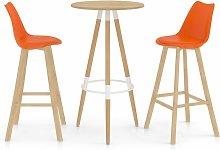 Youthup - Mesa alta y taburetes de bar 3 piezas