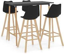 Youthup - Mesa alta y taburetes de bar 5 piezas