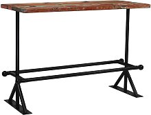 Youthup - Mesa de bar de madera maciza reciclada