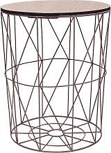 Youthup - Mesa de centro color cobre Ø 47 cm -