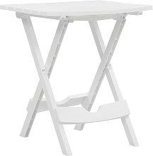 Youthup - Mesa de jardín plegable blanco