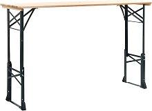 Youthup - Mesa de jardín plegable madera de pino
