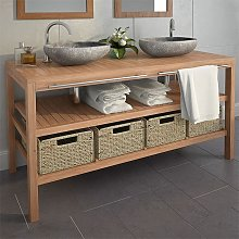 Youthup - Mueble lavabo tocador madera teca maciza