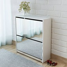 Youthup - Mueble zapatero blanco 2 compartimentos