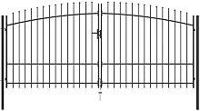 Youthup - Puerta doble para valla con puntas de