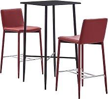 Youthup - Set de mesa alta y taburetes 3 pzas