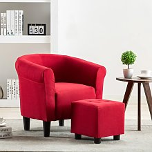 Youthup - Set de sillón con taburete reposapiés