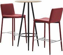 Youthup - Set mesa alta y taburetes bar 3 pzas