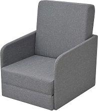 Youthup - Sillón convertible en cama tela gris