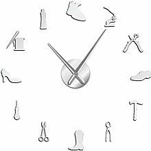 YQMJLF Reloj Pared DIY 3D Grande Zapatería