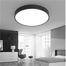 YSJSPOL Iluminación de Techo Negro Blanco LED