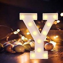 Yuehuam Letras de Marquesina Led Vintage Alfabeto
