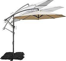 YUEN Parasol Excéntrico 300cm Sombrilla Jardin De