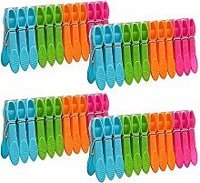 YUIP 48 Piezas Pinzas de Plástico, Pinzas de