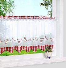 Yujiao Mao Visillo estilo rústico bistro cortina