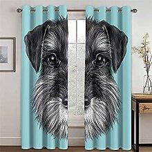 YUNSW Cortinas con Diseño De Cachorro De Dibujos