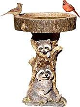 Yunyan Pajarera de resina con diseño de mapache