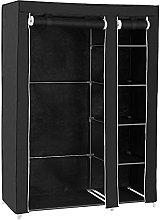 YUXI8541NO Armario portátil de lona negra para el