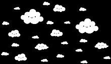 YWLINK 24 UNIDS DIY Cara Sonriente Nubes Blancas