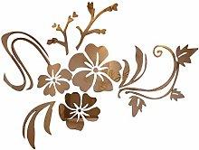 YWLINK 3D Espejo Floral Arte ExtraíBle Etiqueta
