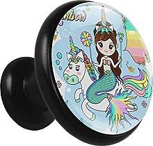 Z&Q Tirador Pomo Mueble Infantil Unicornio Sirena