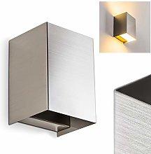 Zabrat - Lámpara de pared LED (metal niquelado, 1