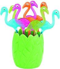 Zak Designs Pinchos Flamingo Fucsia Set 8 P