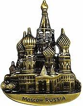 zamonji La Plaza Roja, Moscú, Rusia 3D Metal