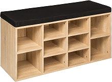 Zapatero con banco - mueble zapatero de madera,