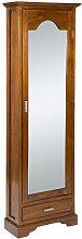 Zapatero con puerta de espejo 56x22x170 cm
