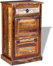 Zapatero de 4 estantes con cajón madera maciza