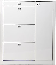 Zapatero de diseño lacado blanco REVA