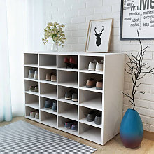 Zapatero de madera aglomerada blanco 92x33x67,5 cm
