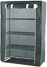 Zapatero de tela, 4 estantes, 100 g/m², color