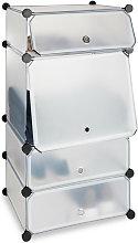 Zapatero Estrecho Modular con 4 Compartimentos,