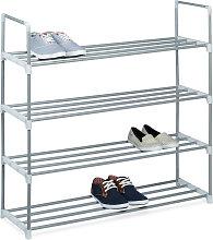 Zapatero Metal, Estantería Zapatos, Estante, 4