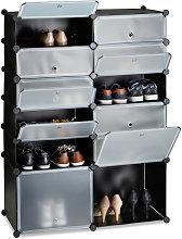 Zapatero Modular con 12 Compartimentos, Plástico,