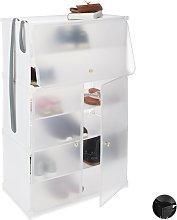 Zapatero Modular con 6 Compartimentos, Plástico,