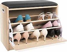 Zapatero Shoe Bench Ottoman Shoe Storage Rack