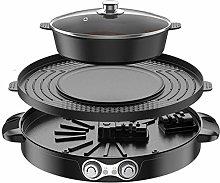 ZCME-power 2 IN 1 Hogar Barbacoa Hot Pot Parrilla