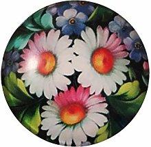 ZHEMAIE Imán para nevera con diseño de flores de