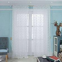 ZHFEL Visillo Cortinas para Dormitorio,Jacquard