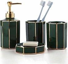 ZHQHYQHHX Set de baño con dispensador de jabón