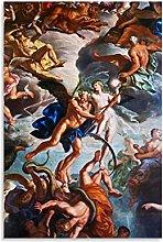 ZHUZHUI Póster de arte barroco, arte