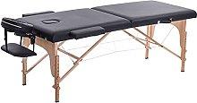 Zjcpow Mesa de masaje plegable plegable cama de