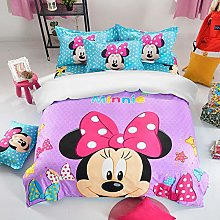 ZKDT Disney Minnie Juego de funda de edredón y